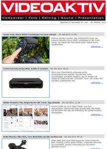 Videoaktiv Newsletter